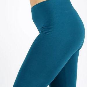 PLUS PREMIUM COTTON FULL LENGTH LEGGINGS -BLUE